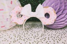 Donut ear headband from a Pastel Donut Birthday Party on Kara's Party Ideas   KarasPartyIdeas.com (12)