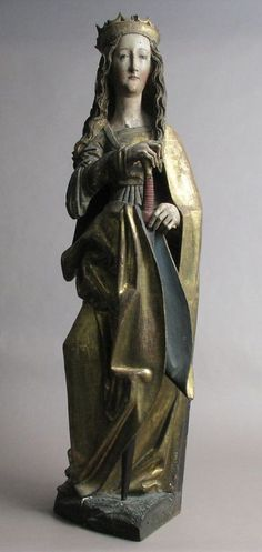 Saint Catherine 15th–16th century Franconia German Limewood with paint and gilding Les Petits chemins