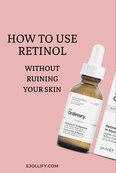 15 tips on how to use retinol creams and serums for best results! Treat acne and wrinkles without irritating your skin or causing flakiness. The Ordinary Skincare Guide, The Ordinary Products, Retinol For Skin, Retinol Cream, Retinol Products, Skin Products, Best Skin Care Routine, How To Treat Acne, Anti Aging Skin Care