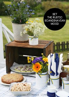 """Scandinavian decorating - """"combine modern with vintage"""". Linked page contains decorating, food, and activity ideas"""