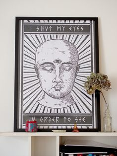 """""""I shut my eyes in order to see"""" / Personal work / 2013 / Print available in the Factory St. Spiritual Symbols, Spiritual Messages, Spiritual Path, Spiritual Awakening, Spiritual Gangster, Tarot, Eye Symbol, Meditation Crystals, Knowledge And Wisdom"""