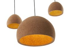 Float by Benjamin Hubert. These hand turned Portuguese oak cork pendant lights are constructed from the waste product in wine stopper manufacture. Pendant Lamp, Pendant Lighting, Light Pendant, Ceiling Fixtures, Ceiling Lights, Wine Cork Jewelry, Wine Stoppers, Interior Lighting, Lamp Design