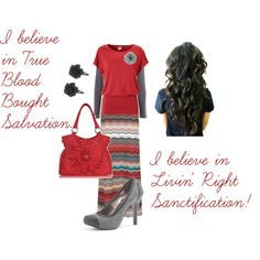 """The Blood Bought, The Redeemed!!!"" by trinity-holiness-girl on Polyvore"
