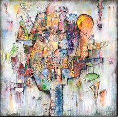 Bruce Rubenstein - Pinky Pie #artwork #colorful #originalart #buyart #square