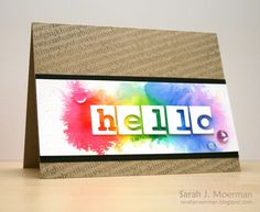 My Impressions: Watercolor Hello and Simon Says Stamp October Card Kit Winner