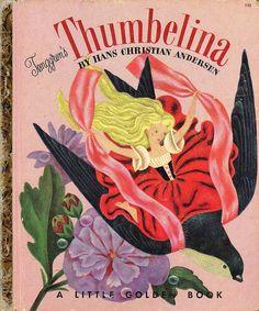 Thumbelina - vintage Little Golden Book