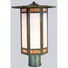 "Arroyo Craftsman Etoile 1 Light Lantern Head Size: 15.5"" H x 10.88"" W, Finish: Bronze"