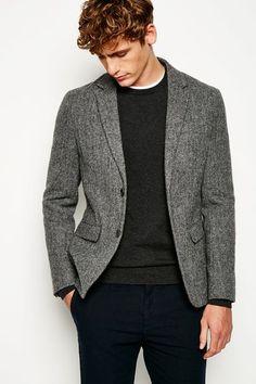 7857a3144 FAIRFIELD TWEED BLAZER Tweed Blazer Men, Tweed Coat, Hooded Parka, Men's  Coats And