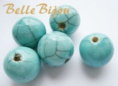 Margele bleu din portelan de diametru aprox 23 mm de bellebijou Breslo