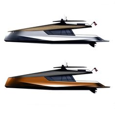 Peugeot Design Lab worked with JFA Yachts to design this 115' Catamaran. Sketches by Pierre Gimbergues #peugeotdesignlab #peugeot #jfa #catamaran #yacht #boat #powerboat #sketch #design