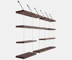 Suspended Shelves diy-able suspended shelving? | diy design, shelving and shelves