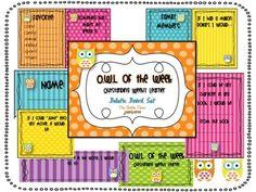O.W.L. {Outstanding Weekly Learner} Bulletin Board Set