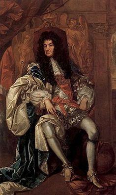Karel II Karel II is geboren in St. James's palace, op 29 mei 1630 en stierf in Palace of Whitehall op 6 februari 1685. na de dood van Karel I, kwam Karel II aan de macht(dat was de zoon van Karel I). Engeland werd toen een parlementaire monarchie, dat betekent dat niet meer alleen de koning de macht heeft, maar dat hij samen regeert met het parlement.