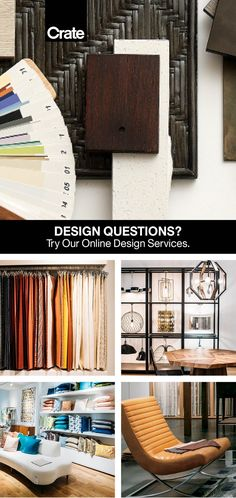 Our design experts at Crate Design Studio are ready to help you find design solutions that fit your needs, big or small. Our totally free online service includes tips, inspiration, and advice from start to finish. Free Interior Design, Interior Design Services, Dream Rooms, Crate And Barrel, Service Design, Crates, Beautiful Homes, The Help, Design Inspiration