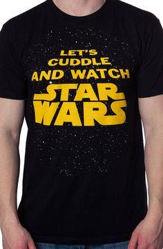 Cuddle and Watch Star Wars Shirt: Star Wars Mens T-shirt