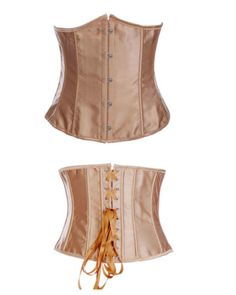 New-Sexy-Satin-Underbust-Boned-Lace-Up-Corset-Bustiers-Top-G-String-2686A