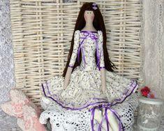 Virginie hecha a mano de la muñeca Tilda. Tilde de la muñeca. Muñeca de textil. Muñeca de trapo. Inicio Decoration.Handmade Doll,Doll.Tilda muñeca