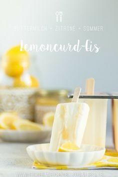 Lemoncurd-Eis Buttermilch-Zitrone besser als vom Kiosk und ganz einfach selbst zu machen mit einer Popsicle-Form | Recipe for simple lemoncurd-popsicles that taste like the Buttermilk-Lemon-Icecream to buy