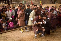 A very spirited Tug-of-War competition during the Strongman Competition at the Bhutan Nomad Competition in the remote Tang Valley near Bumthang      #travel #bhutan #sport #artofvisuals #athomeintheworld #awesome_earthpix #awesome_photographers #awesomeearth #awesomeglobe #TLPicks #bestplacestogo #discoverglobe #earthfocus #earthpix #exploretocreate #fantastic_earth #ItsAmazingOutThere #livetravelchannel #nakedplanet #natgeotravel #ourplanetdaily #passionpassport #stayandwander…