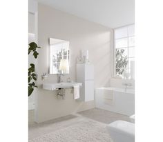  LAUFEN Bathrooms' Palace is a versatile bathroom suite—a timeless classic that is designed for the future. Bathroom Suite, Interior, Home, Kitchen And Bath, Laufen Bathroom, Bathroom Colors, Kitchens Bathrooms, Interior Design, Bathroom Decor
