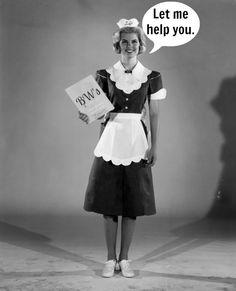 A waitress from Hody's Restaurant models her 1962 uniform for the camera, crisp white tennies and all Waitress Outfit, Maid Outfit, Maid Dress, 1950s Fashion, Vintage Fashion, Restaurant Vintage, Restaurant Uniforms, Staff Uniforms, Maid Uniform