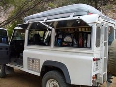 storage units to replace 110 rear side windows - Land Rover Fanatics Forum in Africa Defender Camper, Land Rover Defender, Side Window, Rear Window, Daihatsu Terios, Mobile Coffee Shop, Rear Speakers, Expedition Vehicle, Interior Trim