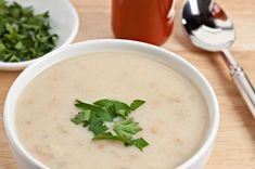 Clam Chowder ~ I didn't think this recipe was great. I'd like to find another.