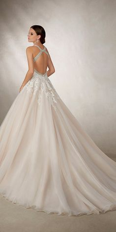 18 Wedding Ball Gowns By Ameli Sposa & Ronald Joyce ❤ See more: http://www.weddingforward.com/wedding-ball-gowns/ #weddings #ballgowns