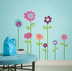 "Flower Stripe 53"" Giant Wall Stickers Room Decor Decals Borders Vines Girls Kids on eBay!"