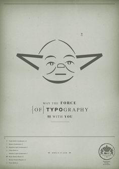 Yoda : de la typographie tu te servira