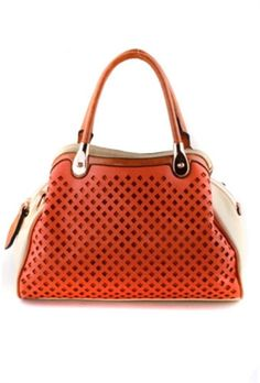 Lasercut Bowler Handbag  62.99 Comes in Orange 095e0795facf1