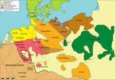 Die räumliche Verteilung germanischer Volksgruppen um 50 n. Chr.