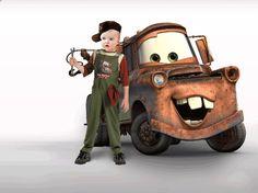 Fotomontaje Cars. Montaje Infantil con Tow Mater