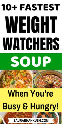 Quick Weight Watchers Soup Recipes With SmartPoints? Read my Zero Points Weight Watchers Soup Freestyle Recipes which are cheap and easy to cook. We have weight watchers chicken, cabbage & crockpot weight watchers soups. Make our easy Weight watchers s Weight Watchers Meal Plans, Weight Watchers Smart Points, Weight Watcher Dinners, Weight Watchers Chicken, Weight Watchers Desserts, Ww Recipes, Soup Recipes, Healthy Recipes, Shake Recipes