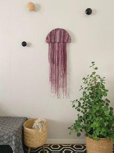Jelly | Handmade Fiber wall art | Macramé art | Contemporary wall art | Wall hanging | Wall Tapestry | Fabric wall art | Modern fiber art