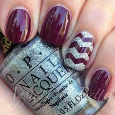 Burgundy Christmas nail design! <3 Check now: