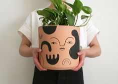Ive Been Quiet On Ig For A While, But Emerging From Hibernation With A Spring Project Ive Been Working On. Seven One-Of-A-Kind, Hand-Painted Terra-Cotta Pots, Exclusively For Thezensucculent Ceramic Pottery, Ceramic Art, Painted Plant Pots, Spring Projects, Spring Crafts, Ceramic Design, Terracotta Pots, Plant Decor, Flower Pots