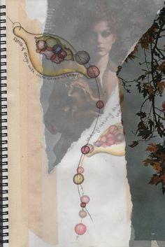 illustrations - Jodie Gearing : Bespoke Jewelry and Silversmithing.  Layering -- translate to fabric?