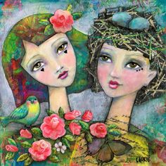 Best Friends, Sisters, Love Art Print,