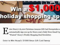 Heavy's Christmas 2017 $1,000 Amazon Gift Card Sweepstakes