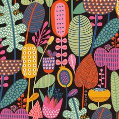 Floral Illustration via Helen Dardik of Orange You Lucky! Motifs Textiles, Textile Patterns, Flower Patterns, Print Patterns, Doodle Patterns, Summer Patterns, Illustration Blume, Magazine Illustration, Pattern Illustration
