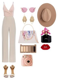 """""""Untitled #14"""" by udggv24 on Polyvore featuring MaxMara, Ted Baker, Oliver Peoples, Satya Twena, Charlotte Russe, Marc Jacobs, Urban Decay and Lime Crime"""