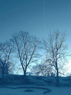 A jet on a blue sky