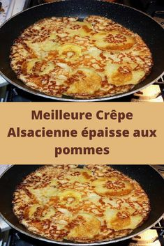 Best thick Alsatian pancake with apples - Recettes Astuces - Desserts Sweets Recipes, Easy Desserts, Healthy Breakfast Recipes, Easy Dinner Recipes, Chefs, Buckwheat Crepes, Pastry Cook, Low Carb Recipes, Cooking Recipes
