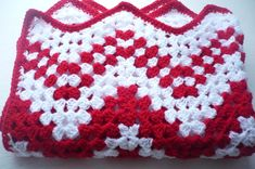 Candy Cane Granny Square Chevron Baby Blanket by Aalexi on Etsy,