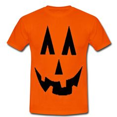 halloween pumpkin face orange tshirt from teeshope.com This t-shirt is Made To Order, one by one printed so we can control the quality.