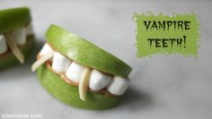 vampire teeth - a healthy halloween snack! via @sheri127