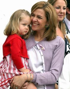 Princess Cristina of Spain and her only daughter Irene. Many sons.
