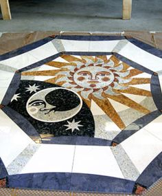 Sun and Moon Terrazzo Floor