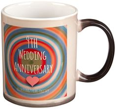 3drose 9th Wedding Anniversary Gift, Magic Transforming Mug, 11-Oz *** You can get additional details at the image link.